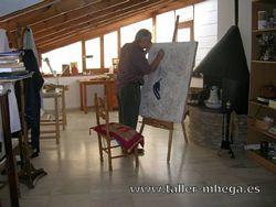 Mariano Hernández García en el taller
